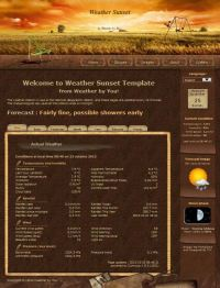 Weather Sunset Template
