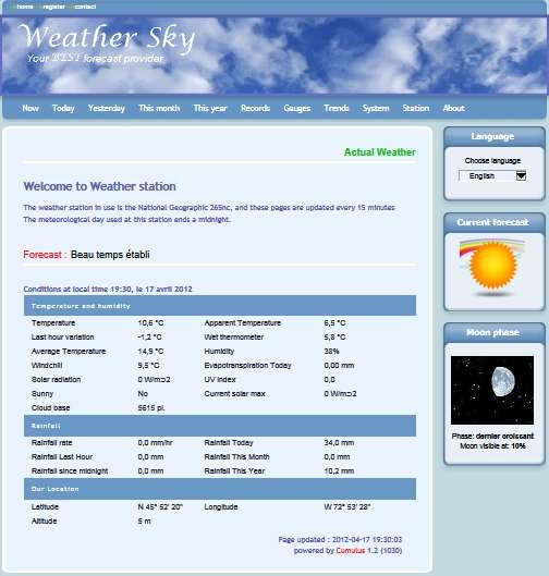 Weather by You! Weather sky template installation
